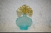 Fenton Aqua Blue & Amber Opalescent Perfume Bottle