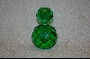 """SOLD"" Emerald Green Round Crystal Perfume Bottle"