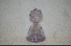 Lavender Cracked Glass Perfume Bottle