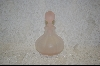 **Pink Frosted Glass Perfume Bottle