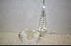 Large Clear Crystal Perfume Bottle W/ Hand Carved Stopper
