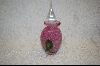 "**""Gorgeous Designs"" Pink & Green Perfume Bottle"