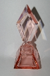 "Vintage ""Large"" Pink Glass Perfume Bottle With Glass Stopper"