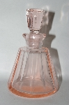 Vintage Pink Glass Perfume Bottle With Glass Stopper