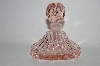 **Vintage Elegant Soft Pink Perfume Bottle With Round Glass Stopper