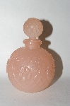 Vintage Pink Frosted Patterened Perfume Bottle