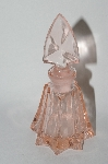 Vintage Soft Pink Glass Perfume Bottle