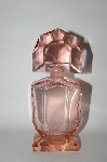 "MBA #55-256  ""Vintage Large Made In Austria  Pink Glass Perfume Bottle"