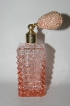 Vintage Large Square Pink Glass Atomizer