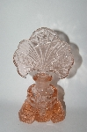 Vintage Large Soft Pink Glass Fancy Perfume Bottle