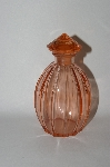 Vintage Deep Pink Colored  Perfume Bottle
