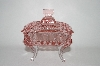 Beautiful Square Shaped Pink Glass Vanity Dish