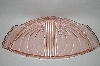 Vintage Fancy Pink Glass Vanity Tray