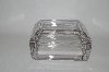 Vintage Clear Glass Heavy Trinket Box
