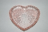 **Vintage?  Pink Glass Heart Shaped VanityTray