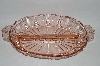 "**Vintage Pink depression Glass ""Oyster & Pearl"" Relish Dish"