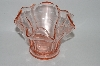 **Vintage Pink Depression Glass Floral Look Vase
