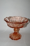 **Vintage Pink Depression Glass Tall Candy Dish