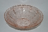 "**Vintage ""Cherry Blossom"" Depression Glass Pink Berry Bowl"