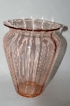 ** Vintage Pink Depression Glass Wide Top Vase