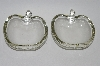 **MBA #59-172   Pair Of Two Vintage Clear Glass Apple Dishes
