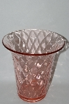 **Vintage Large Pink Glass Vase