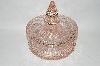 "MBA #60-268   ""1930's Vintage Light Pink Fancy Toped Candy Dish"