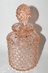 "Vintage Pink Depression Glass ""Hobnail"" Perfume Bottle With Glass Stopper"