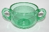 Vintage Green Depression Glass Sugar Bowl
