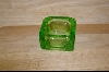 Green Glass Ashtray #4773