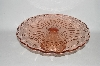 "**MBA #57-143   ""2005  Reproduction Antique Pink Glass Large Pedestaled Cake Salver"