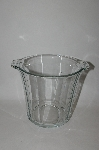 Very Large Vintage Clear Glass Ice Bucket