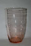 "** Vintage Pink Glass ""Large Vase"""
