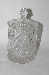 "MBA #61-169      ""Cut Crystal Candy Dish With Lid"""