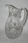 **MBA #61-166   Beautiful & Fancy Clear Crystal Pitcher