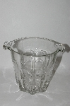 Very Fancy Vintage Clear Glass Ice Bucket