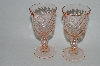 "** Vintage Pink Depression Glass ""Small Sherry"" Glass's Set Of 2"