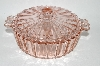 ** Vintage Pink Depression Glass Candy Dish With Lid