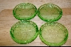 Set Of 4 Green Glass Coasters #4778