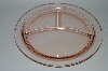 "**Vintage Pink Depression Glass ""Grill Plate"""