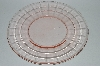 "** Vintage Pink Depression Glass ""Fancy Pattern"" Luncheon Plate"
