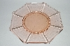 "** Vintage Pink Depression Glass ""Fancy"" Luncheon Plate"
