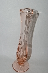 "** Vintage Pink Depression Glass ""Bud Vase"""