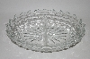 "Vintage Clear ""Cube"" Depression Glass 2 part Relish Dish"
