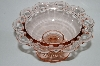"**Vintage Pink Depression Glass ""Old Colony""  Lace Edge Candy Dish"