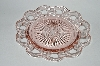 "**Vintage Pink Depression Glass ""Old Colony"" Lace Edge Saucer"