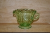 """Madrid"" Federal Glass Green Creamer #4878"