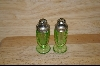 "4"" Green Salt & Pepper Shakers #4870"