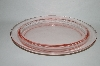 **Vintage Pink Depression Glass Oval Tray