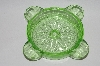 Vintage Green Depression Glass Ashtray